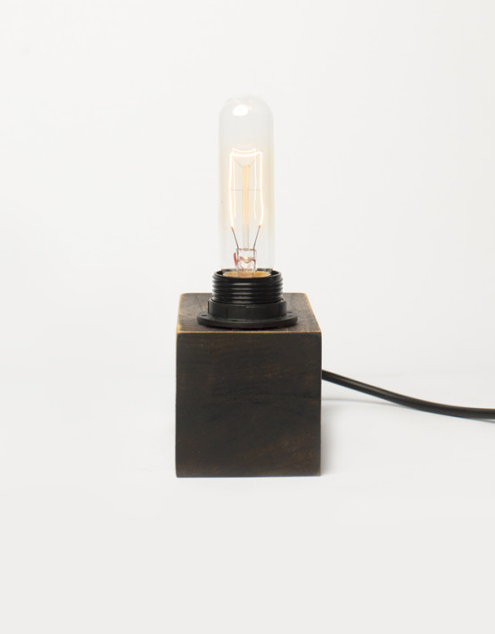 Pipe Brothers wood lamps